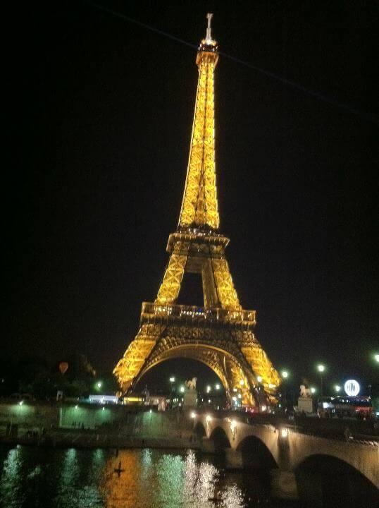 מגדל אייפל בלילה
